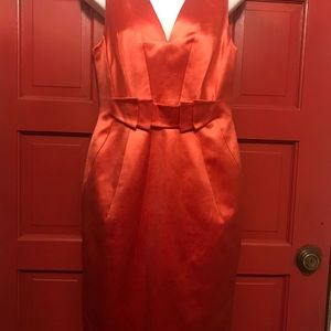 Versace Orange Silk Dress Manufactured & Certified